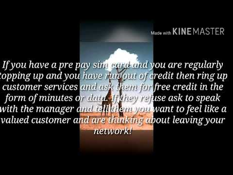 How to get free credit (top-up)