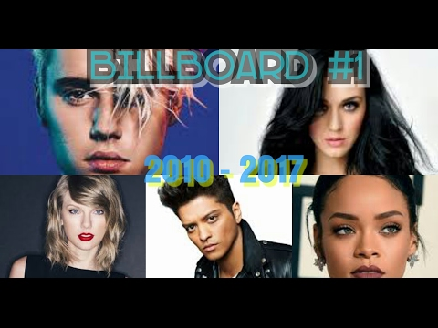 Billboard Hot 100 - No. #1 Songs [2010 - 2017]