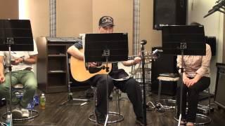 スタジオで練習しました。
