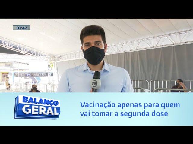 Vacinação em Maceió: Apenas quem já tomou a primeira dose pode ir tomar a segunda