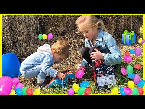 Easter Eggs SURPRISE TOYS Egg Hunt Toy Challenge W Dinosaur TRex Mask & JoJo Siwa Toys