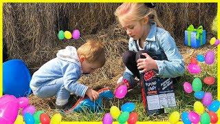 SURPRISE TOYS Egg Hunt Toy Challenge W/ Dinosaur T-Rex Mask & JoJo Siwa Toys