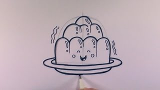 How to Draw a Cartoon Wobbly Jelly