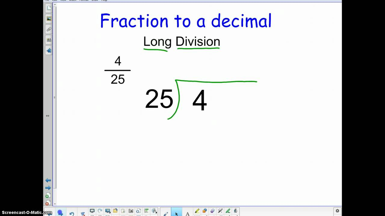 how to make decimals intofractions