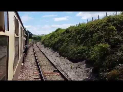 Minehead to watchet on wsr west somerset railway steam train ride