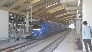 E653系U106編成(瑠璃色) 回送 新潟→上沼垂 新潟駅発車