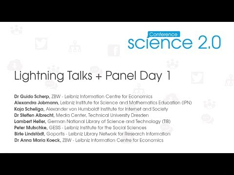 Science 2.0 Conference 2014: Lightning Talks Day 1
