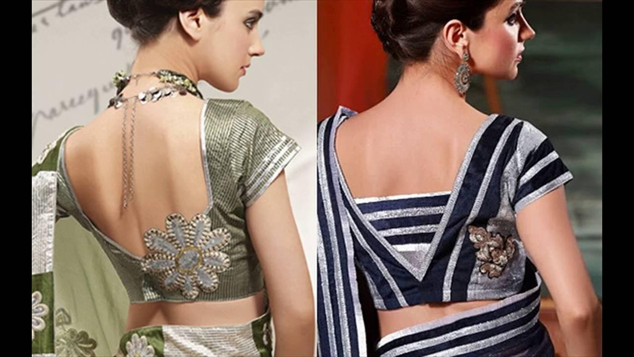 Latest saree blouse design neck - Latest Saree Blouse Design Neck 39