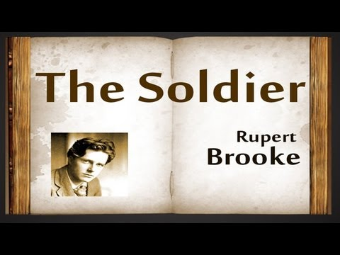 The Soldier By Rupert Brooke - Poetry Reading