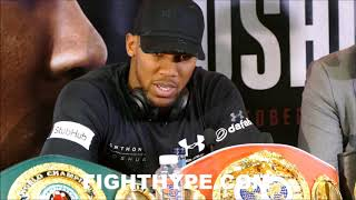 ANTHONY JOSHUA GETS SERIOUS AND WARNS