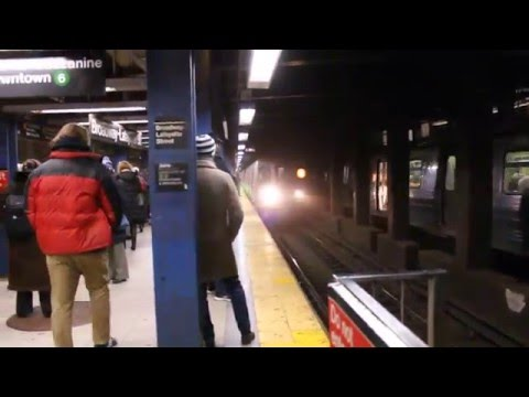 MTA New York City Subway PM Rush Hour Action Broadway-Lafayette St/Bleeker St