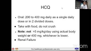 Webinar 04 - Live  Clinical Updates In Covid-19 - Hydroxychloroquine Used For Covid-19 Patients