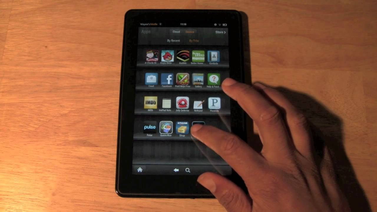 Kindle Fire: How To Delete An App  H2techvideos