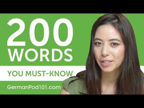 200 Words Every German Beginner Must-Know