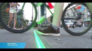 В Волгограде сделали «светофор» для тех, кто переходит дорогу, глядя в смартфон