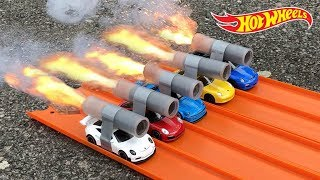 HOT WHEELS PORSCHE ROCKET POWERED RACE !!