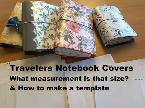 What measurement is a DIY traveler's notebook cover - plus how to make a size template