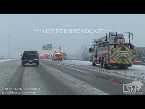 01-12-2018 Indianapolis, IN - Morning Snow Leads To Wrecks