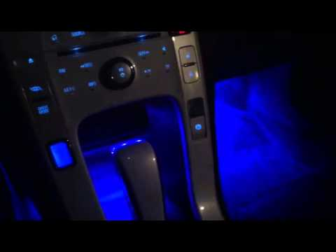 Blue Led Interior Car Lights Youtube
