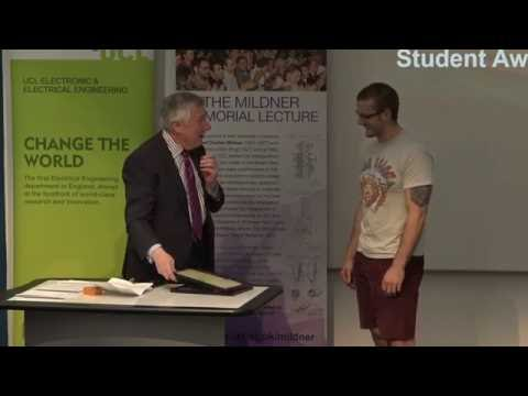 UCL Mildner 2016 Electronic and Electrical Engineering Postgraduate Awards