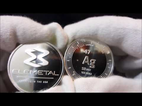 Unboxing Video Of Elemetal 1 oz  999 Silver Bullion  Round