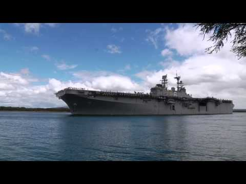 USS Bonhomme Richard LHD 6 Departs Joint Base Pearl Harbor Hickam