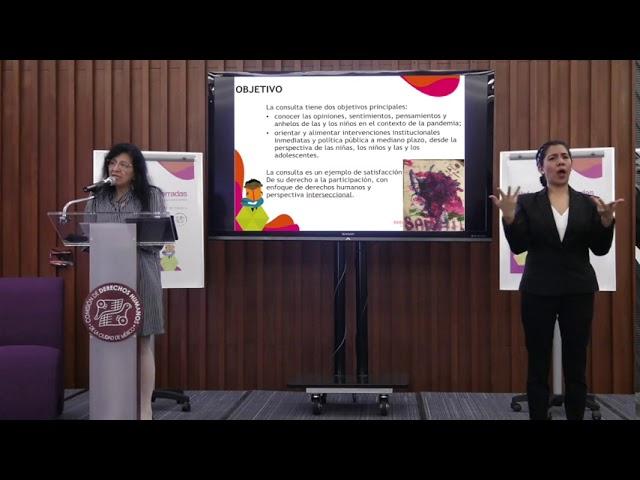 Discurso Nashieli Ramírez Hernández en la presentación de  los resultados de #InfanciasEncerradas