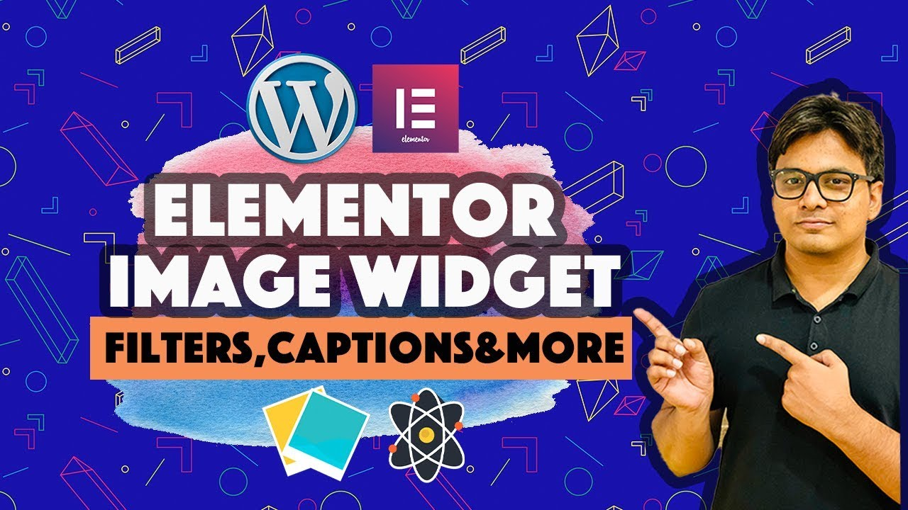 Elementor image widget : Filters captions Hover effects and