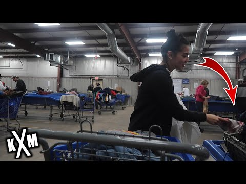 Thrifting At The GoodWill Outlet Bins! | HUGE Clothing And Hard Goods Haul!