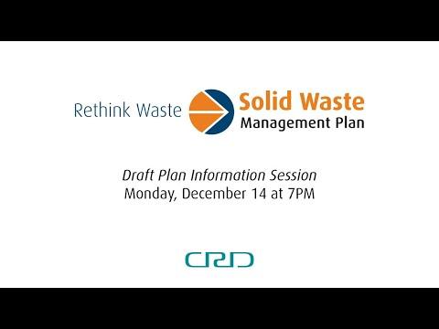 Solid Waste Management Plan Information Session