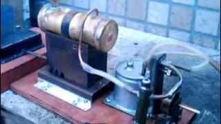taka's steam engine ** small steam plant test run  小型スチームプラント試運転