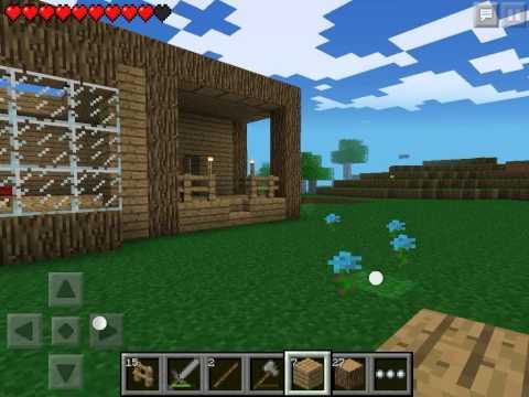 Lets play Minecraft Pocket Edition #5 - Строим дом #3