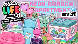 Toca Life World Neon Rainbow Apartment Review 🌈 OUT NOW