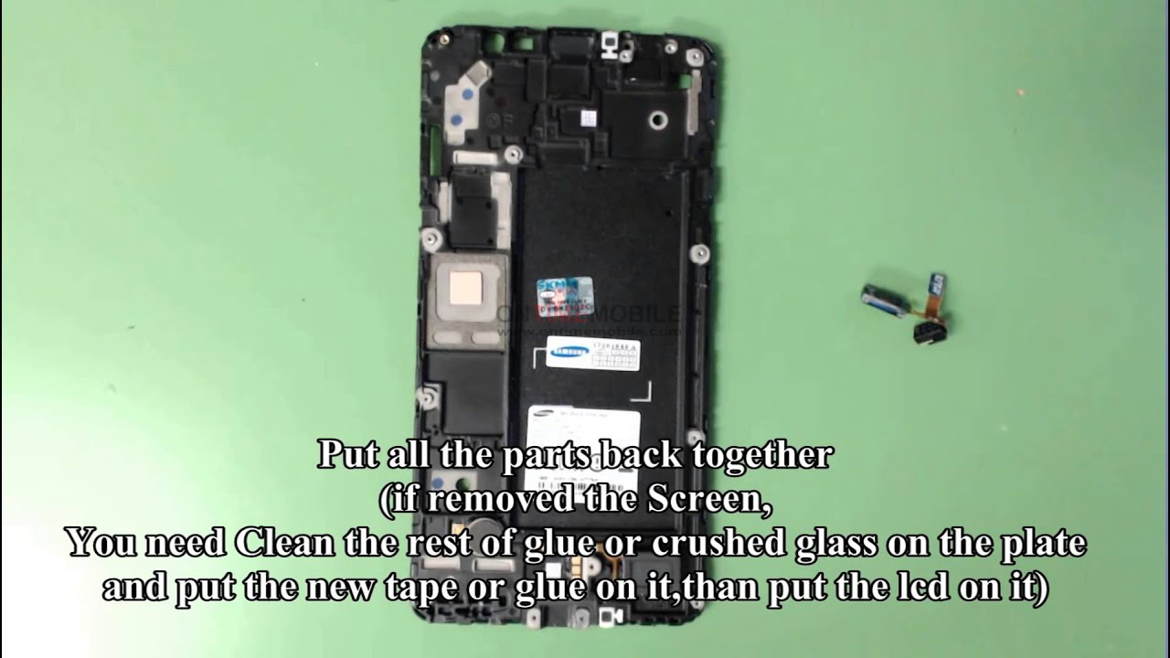 How To Open Or Repair Samsung Galaxy Mega 2 G750a Lcd Charging Port