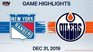 NHL Highlights   Rangers vs. Oilers - Dec. 31, 2019