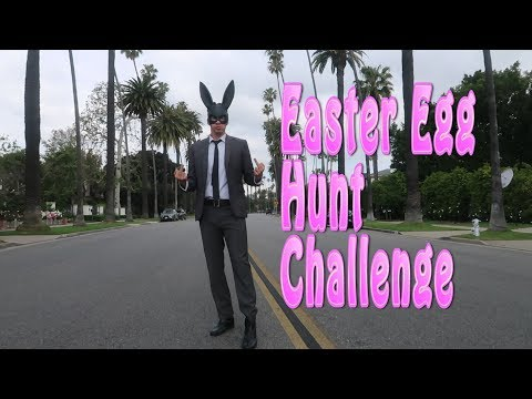 Bad Bunny! Easter Egg Hunt Challenge in Beverly Hills 90210