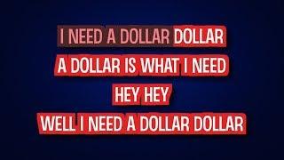 I Need a Dollar - Aloe Blacc | Karaoke LYRICS