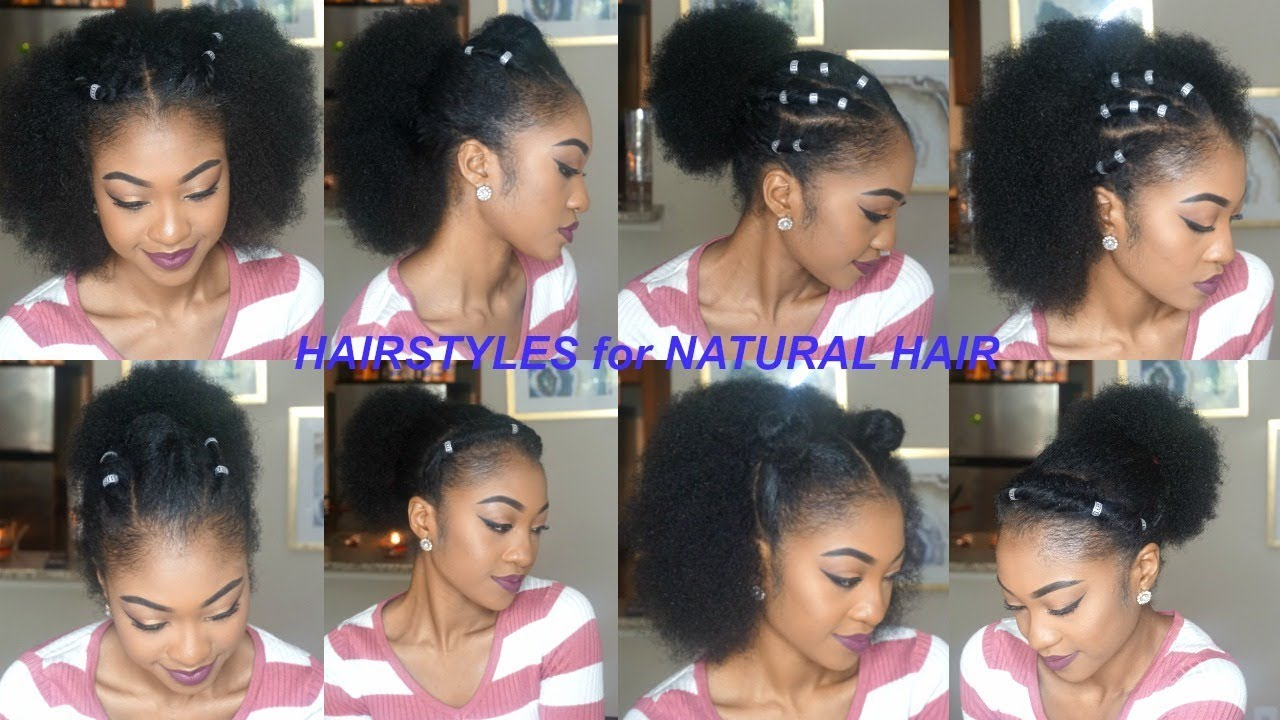More Quick Easy Hairstyles For Short Medium Long Natural Hair Part 3 Disisreyrey Youtube