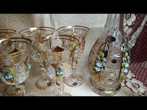 Aleks-Crystal.com - Bohemia Glasses With Gold And Smalt!