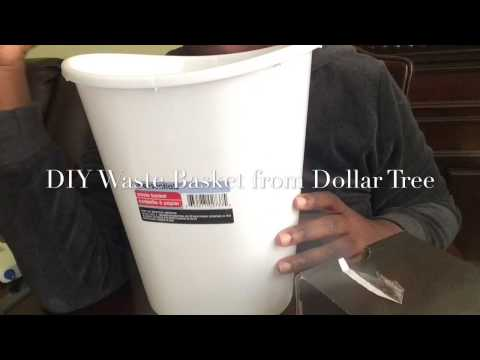 DIY Waste Basket With Products From The Dollar Tree
