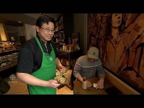 Dancing Starbucks barista has given him more confidence