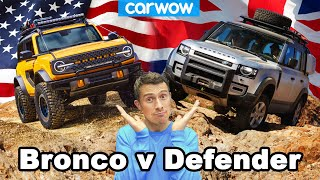 New Ford Bronco vs Land Rover Defender: USA vs UK off-roaders!