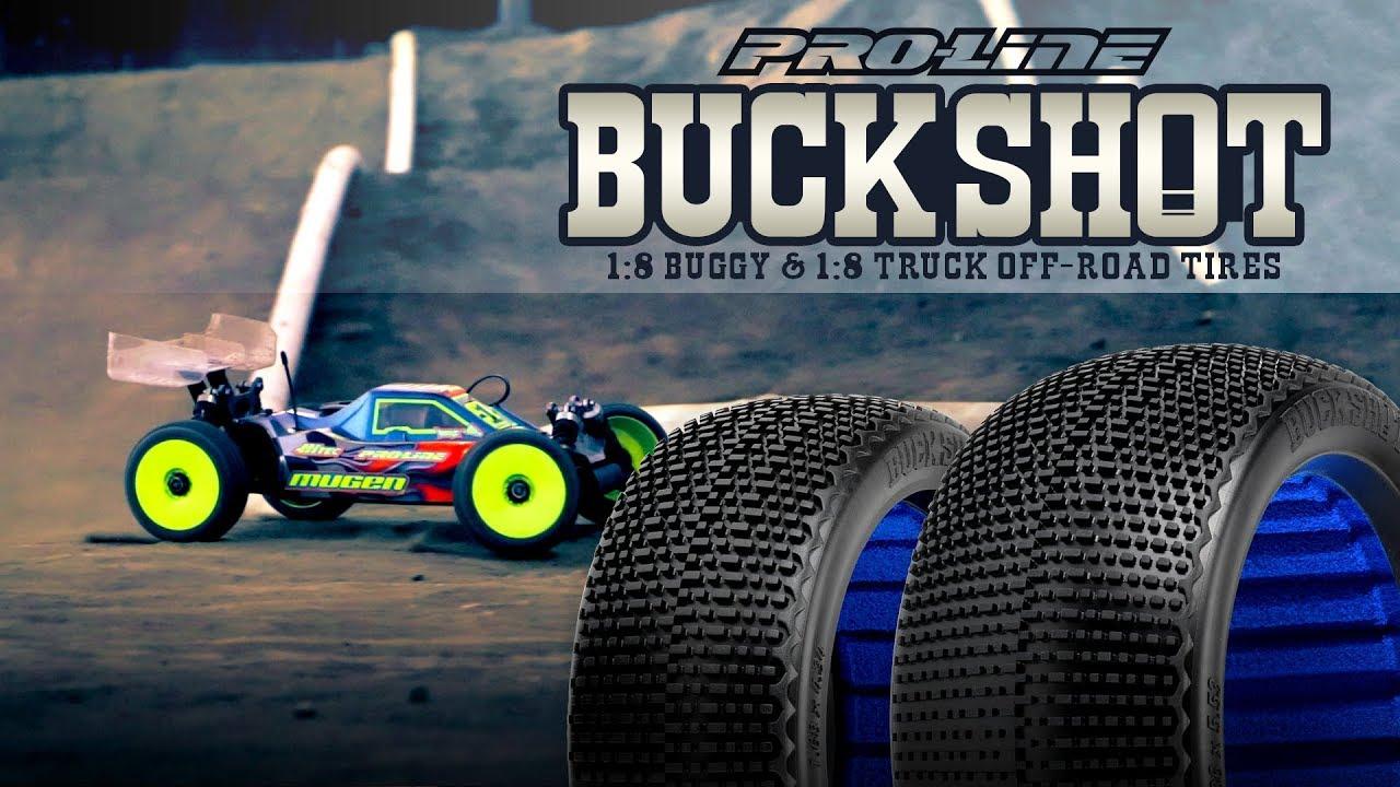 9062-02 2 Gomme 1:8 Buggy Off-Road BuckShot Proline Buck Shot M3 Soft