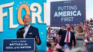 Trump, Biden hold duelling rallies in battleground Florida as Covid-19 resurges