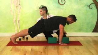 Tools & Techniques to Strengthen Your Chaturanga Dandasana Part Two: Chaturanga on Yoga Blocks