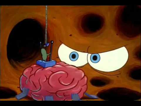 SpongeBob SquarePants Clip - Get Out Of My Head! Leave My Brain Alone!