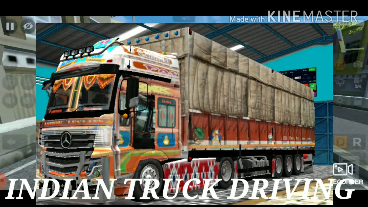 Indian Truck Driving In Bus Simulator Indonesia Mod And Livery Gujrat Truck Mod Game Zon Youtube