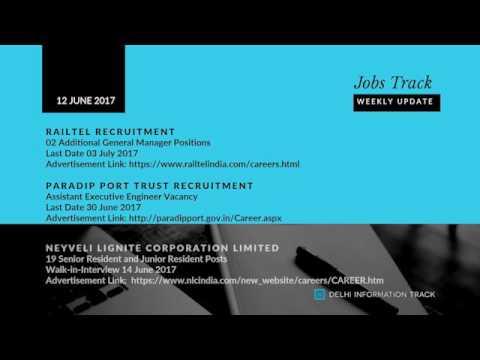 Jobs Track | Weekly Job Alert | 12 June 2017