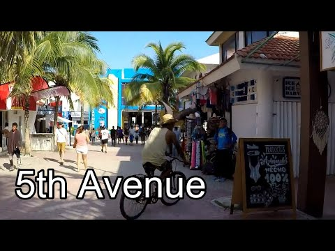 5th Avenue, Playa del Carmen, Mexico | Walking Tour