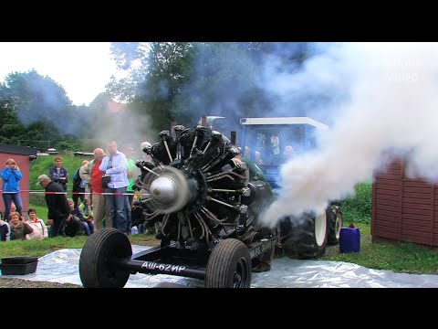 Russischer Sternmotor - Russian Radial Engine Start and Run
